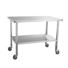 带万向轮不锈钢工作桌